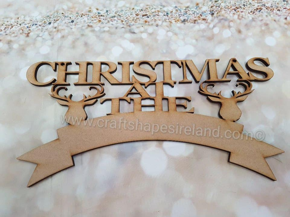Christmas Stag head banner