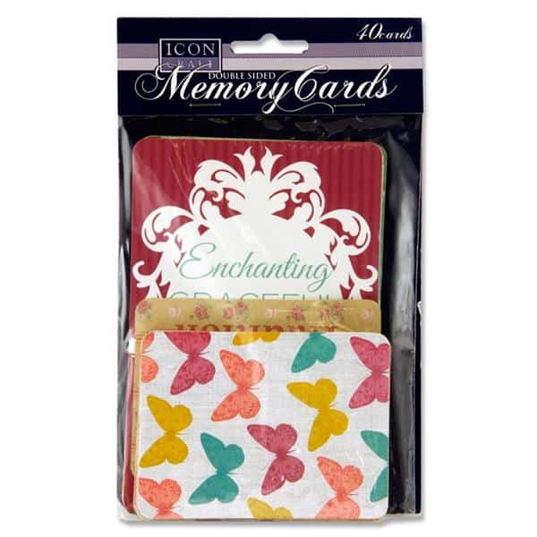 ICON CRAFT PKT.40 MEMORY CARDS - MEMORIES