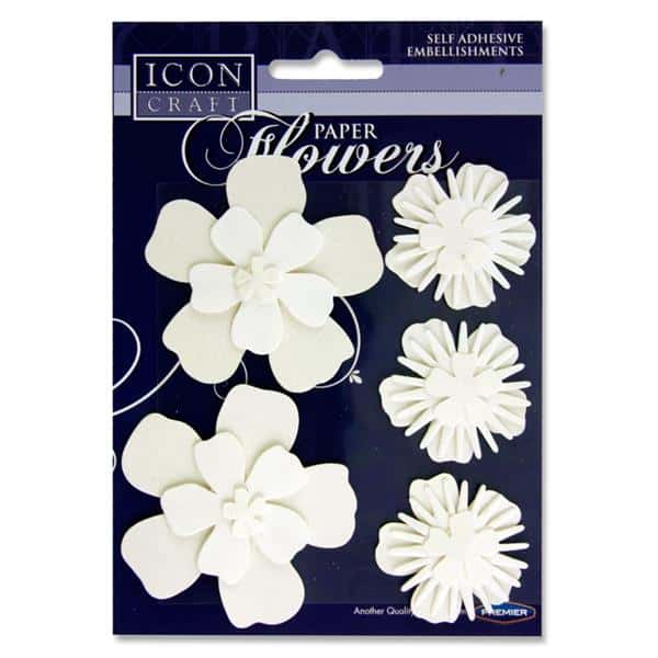 ICON CRAFT PKT.5 PAPER FLOWERS