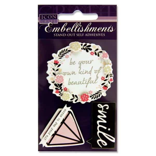 ICON CRAFT STAND OUT EMBELLISHMENTS - Smile