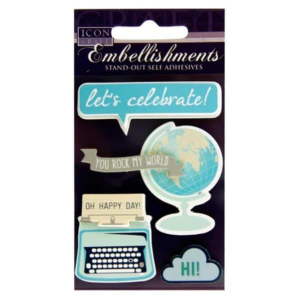 ICON CRAFT STAND OUT EMBELLISHMENTS - lets celebrate