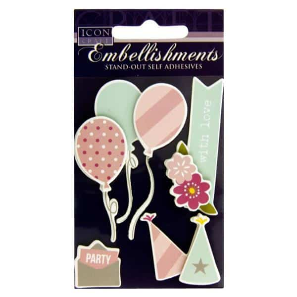 ICON CRAFT STAND OUT EMBELLISHMENTS party