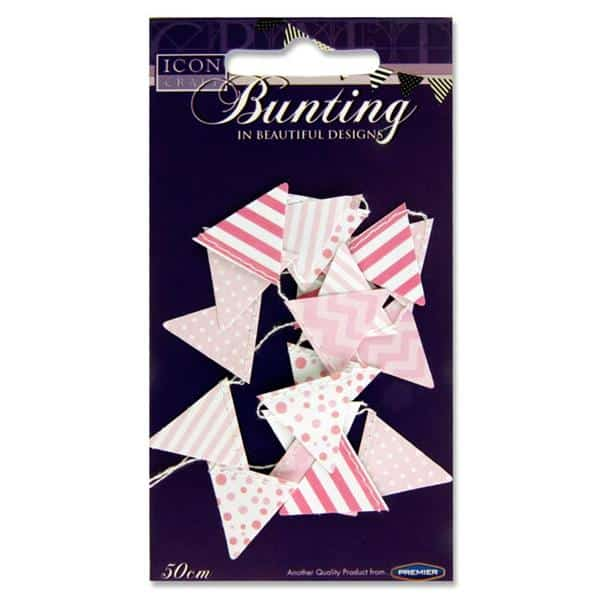 Pink paper bunting
