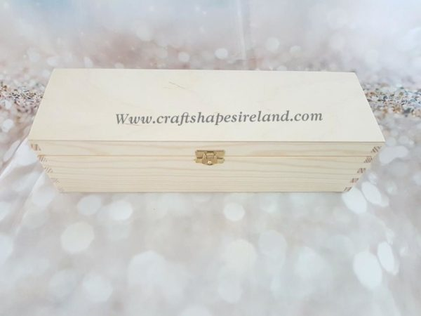 B009 wine box and hinge lid