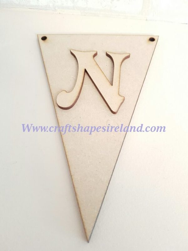 Bunting flag and letter