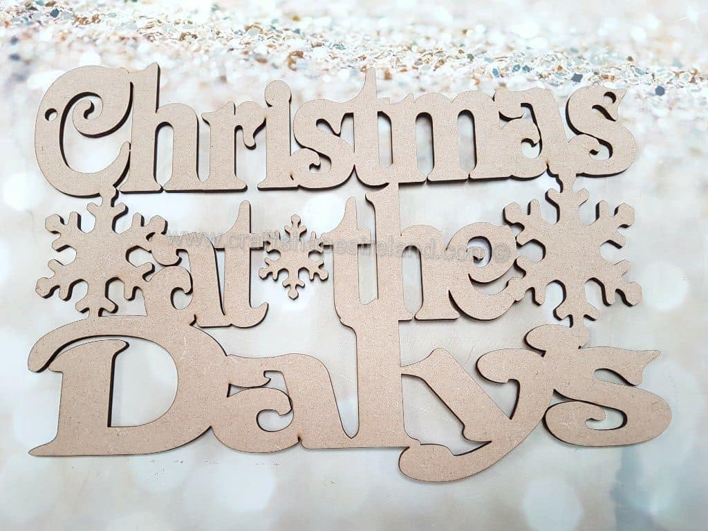 Christmas at the Name Snowflakes 3mm/6mm