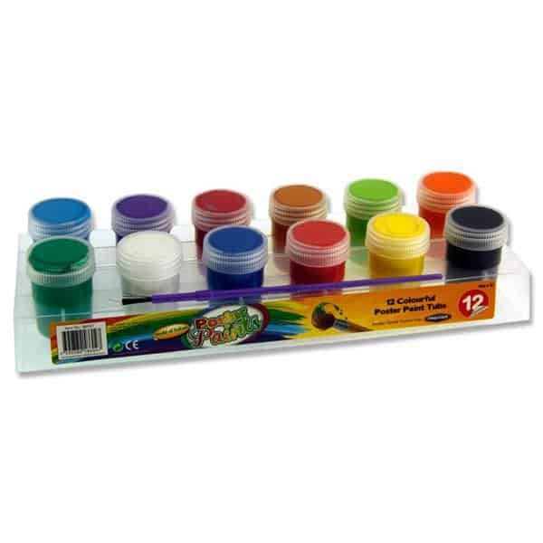 POSTER PAINT TUBS IN PLATFORM WBRUS | Craft Shapes Ireland
