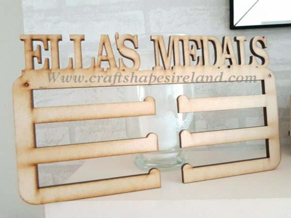 Personalised Medal holder personalised with up to 13 letters