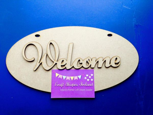 Welcome house plaque