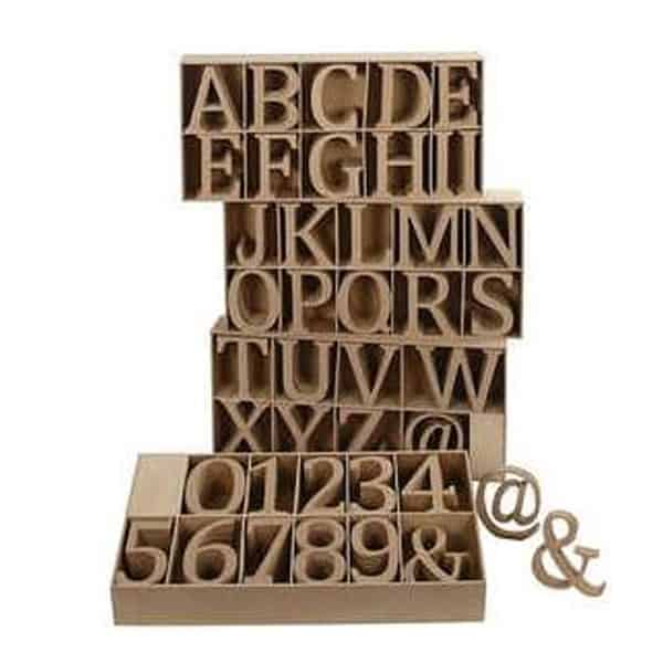 13 cm letters 18mm thick