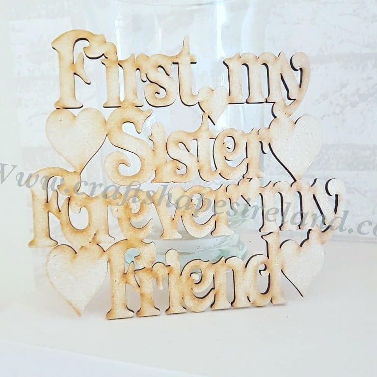 first my sister frame plaque