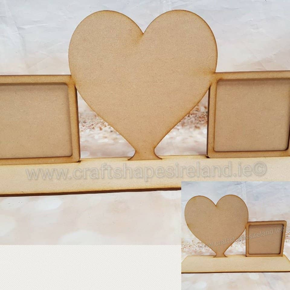 Heart and frame(s) with plinth