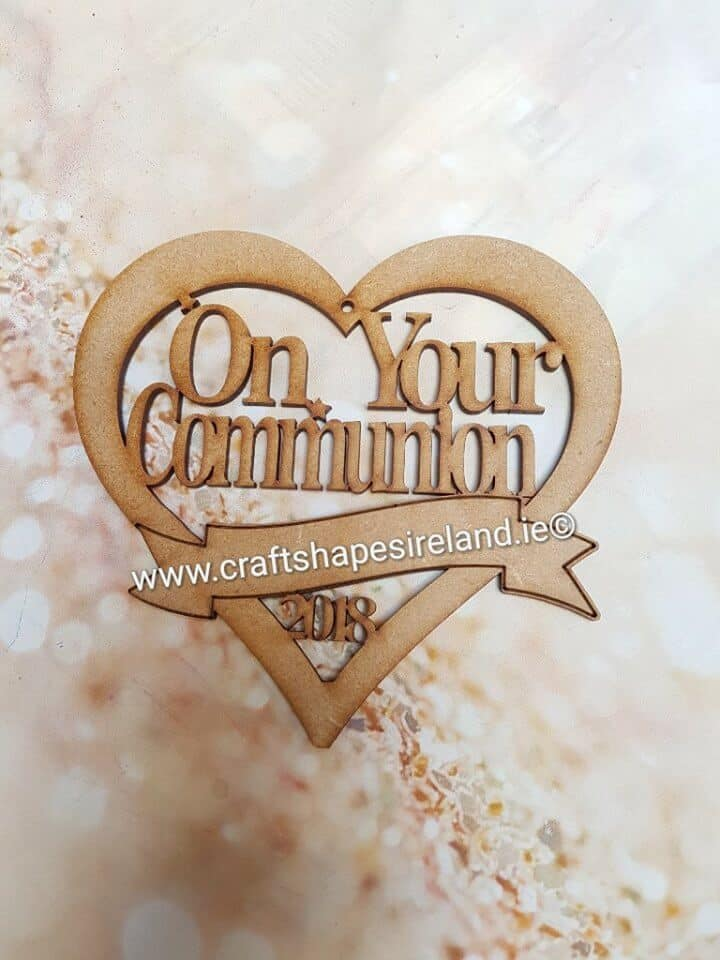 Communion keepsake heart pk 4