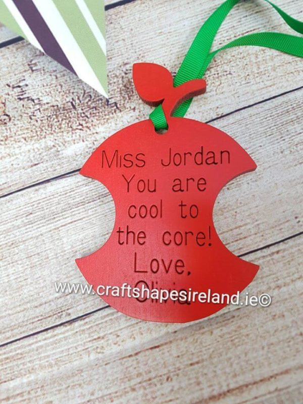 Hanging Apple - Cool to the core Personalised