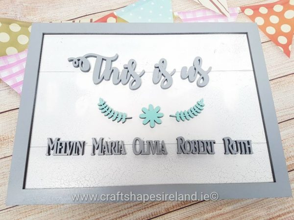 This is us - family plaque