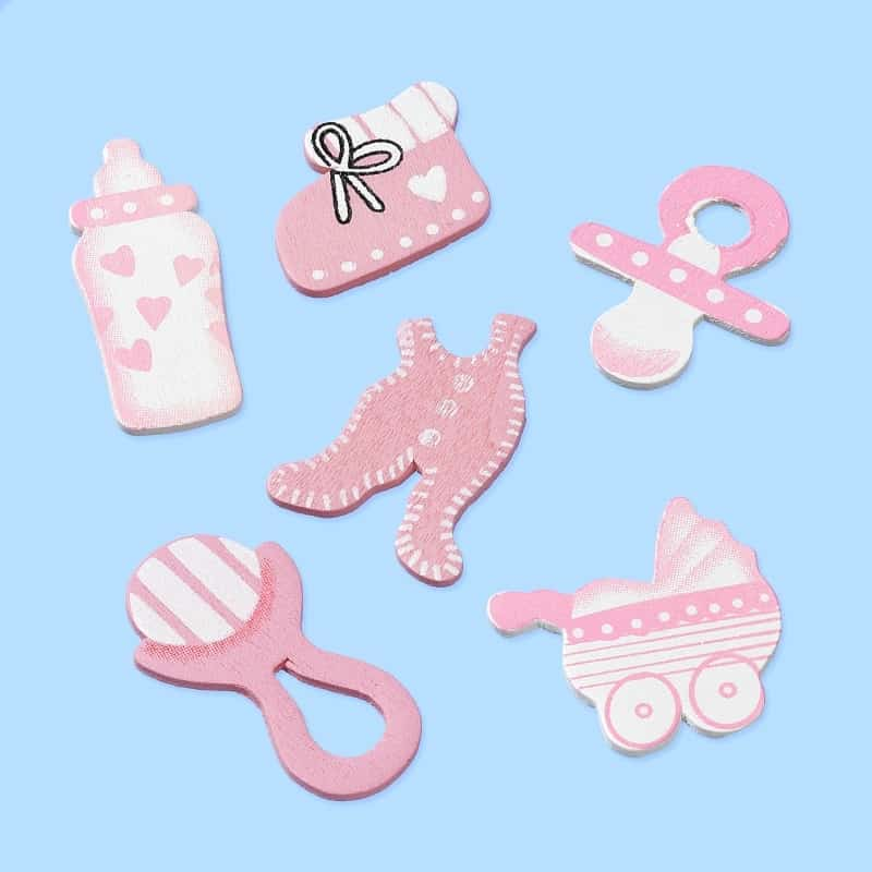 CREApop® Wooden decoration to disperse Baby pink 3860860