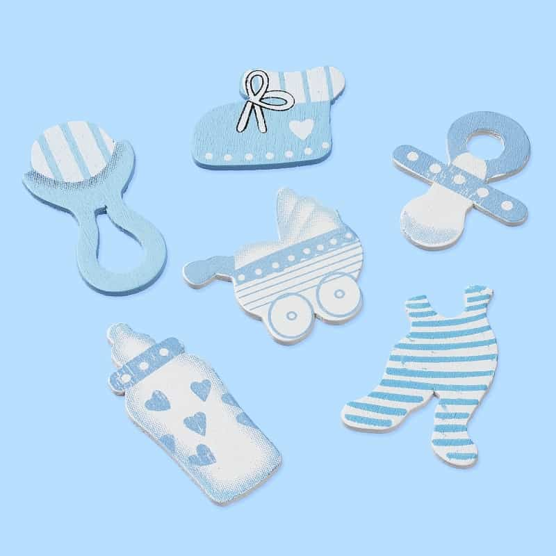 CREApop® Wooden decoration to disperse Baby, blue 3860861