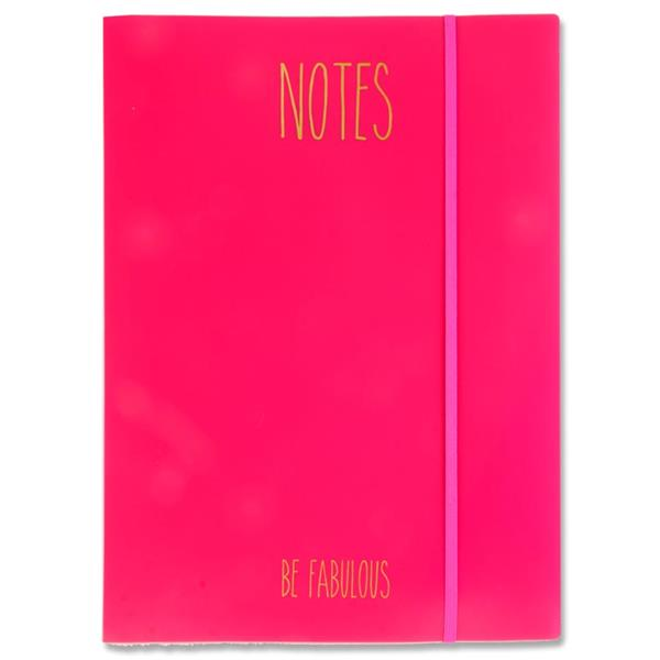 I Love Stationery A4 PP File Folder And 32 Sheets Notebook Pink