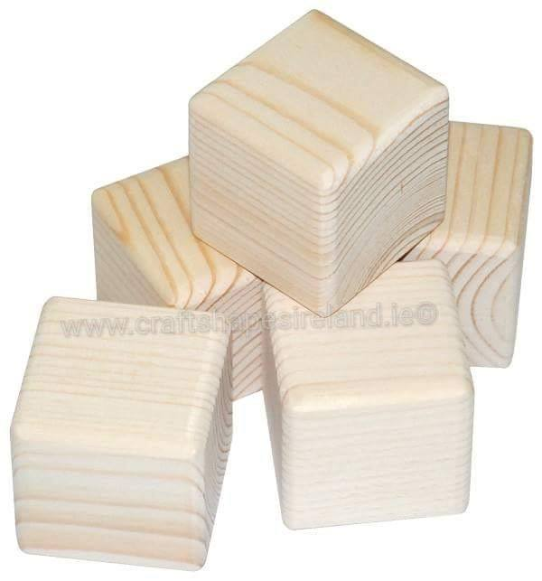 "B025 Solid wood blocks 2""x2"""