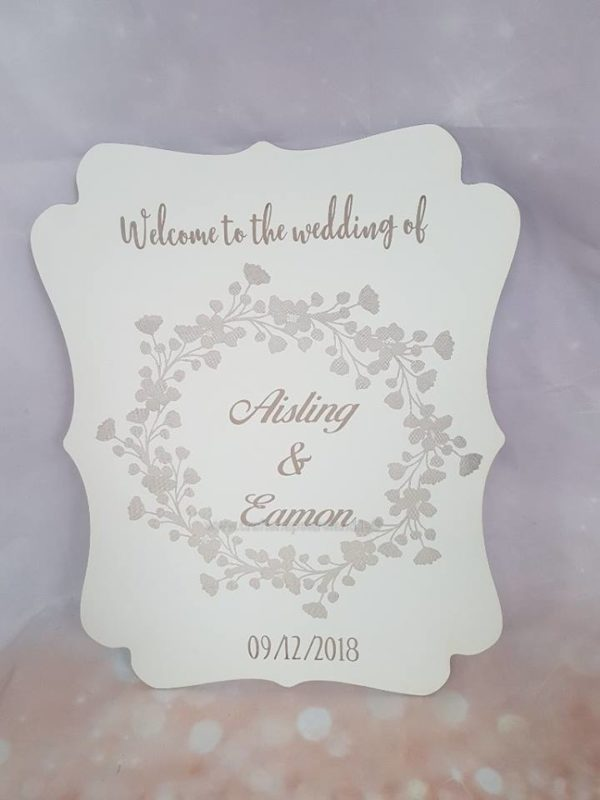 Welcome wedding sign xl personalised