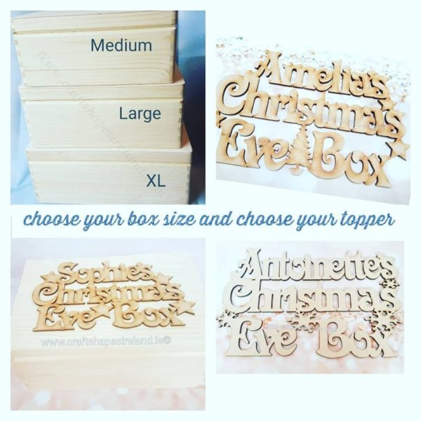 Personalised Large  Christmas eve box and topper***