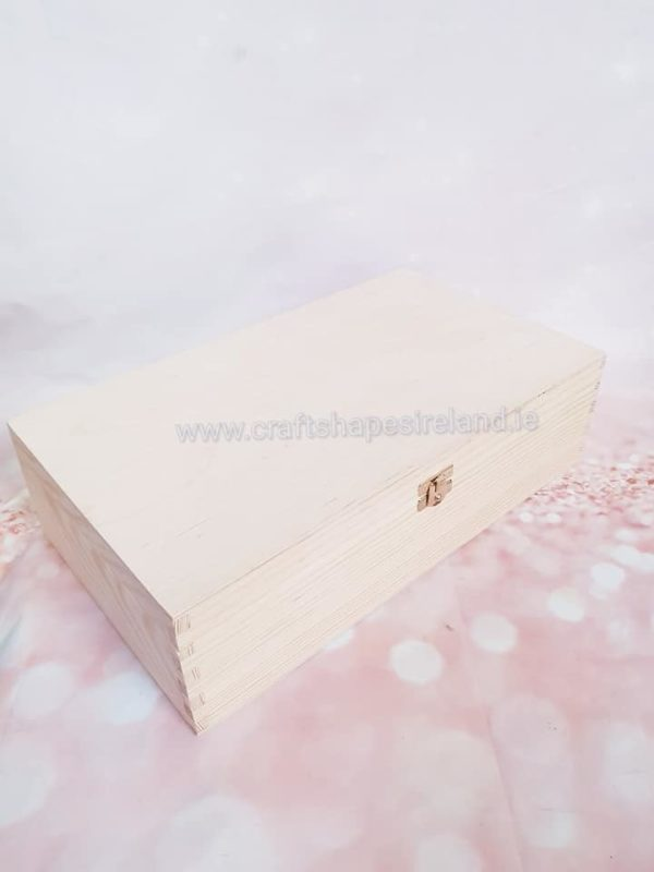 B028 Double wine box, hinged