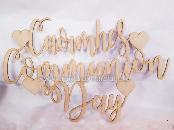Communion day XL sign/ Hoop insert