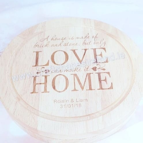 Personalised Circular cheeseboard with utensils - Home