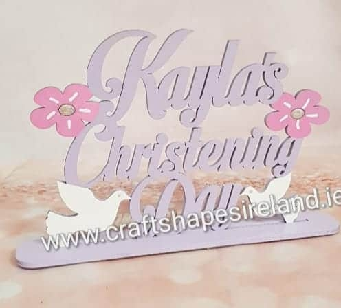 Personalised Christening Table topper