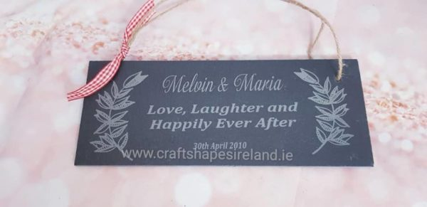 Slate sign - Personalised Happily ever after