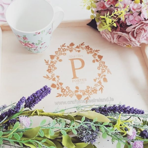 Personalised Tray with Monogram