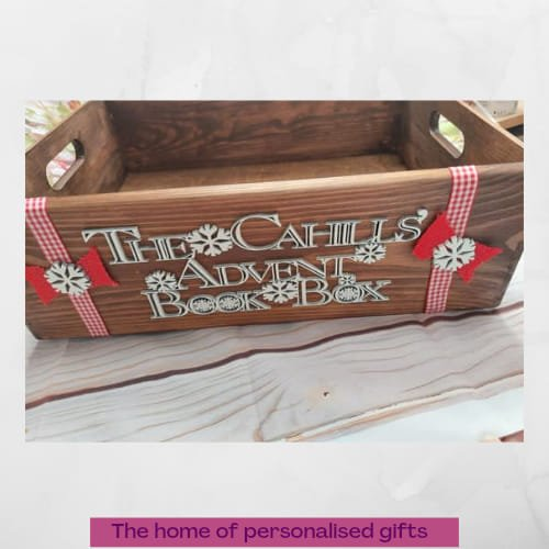 Advent book box, personalised - Stained case