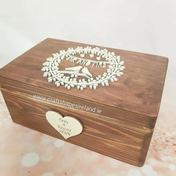 Personalised Mr&Mrs stained keepsake Box