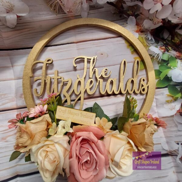 Deluxe Family/House Name Hoop - floral