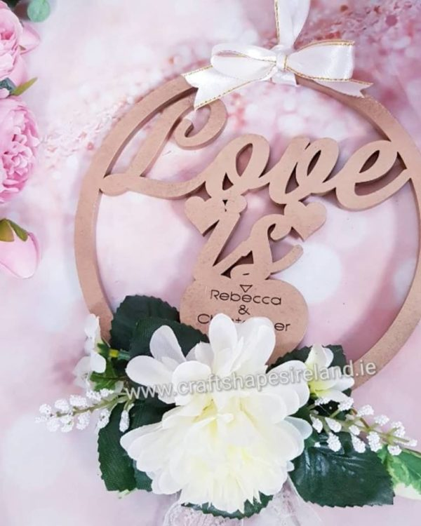 Love Is - Personalised   - floral