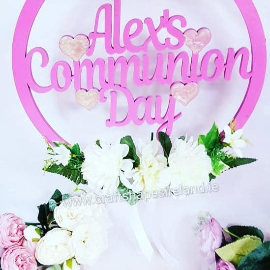 Personalised Commmunion Door/Wall Wreath