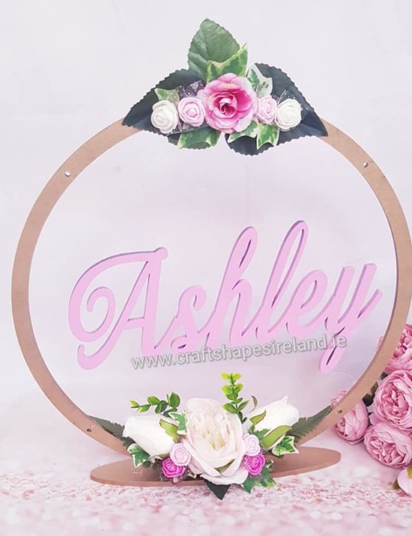 Painted Table top hoop with custom insert