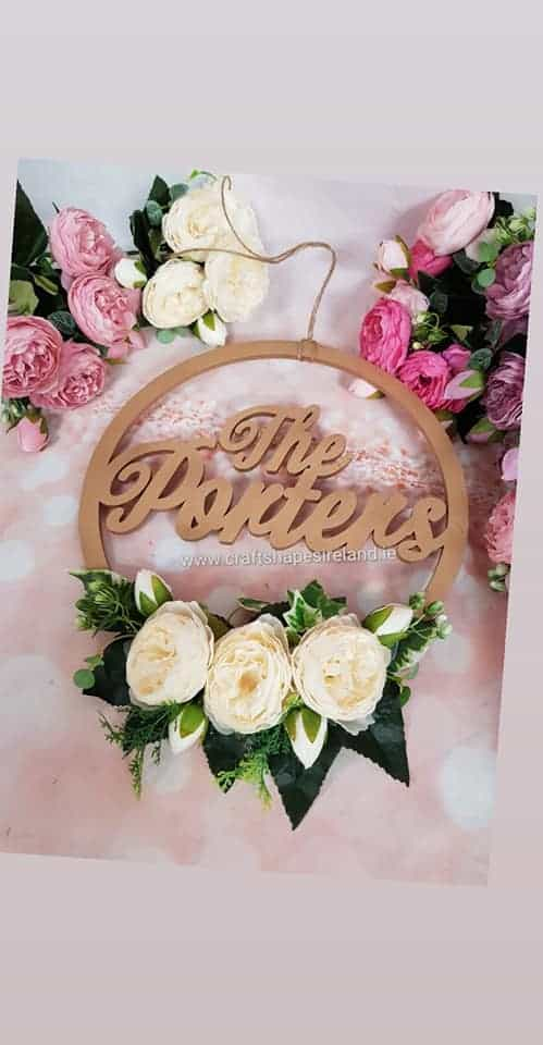 Family/House Name Hoop - floral