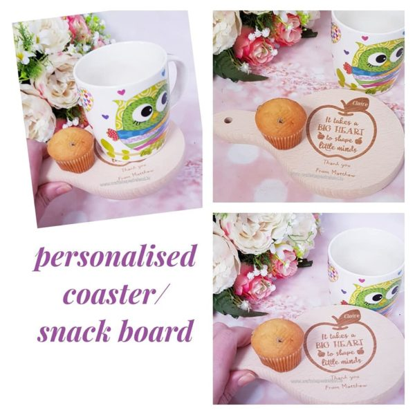 Personalised Coaster/Snack Board. It takes a big heart..