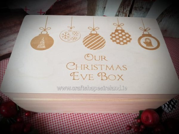 Christmas Baubles Engraved Christmas eve box