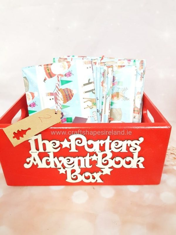 Advent book box, personalised case