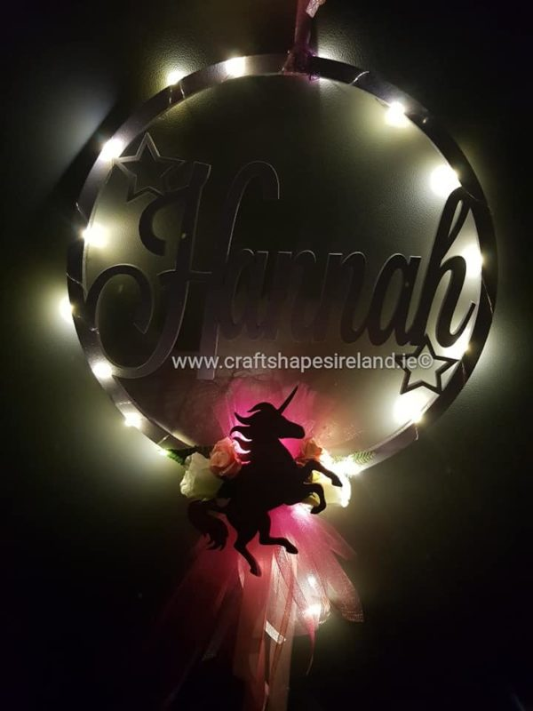 Personalised hoop - Lights