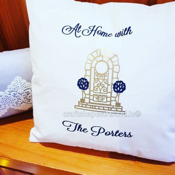 At home with - Personalised cushion