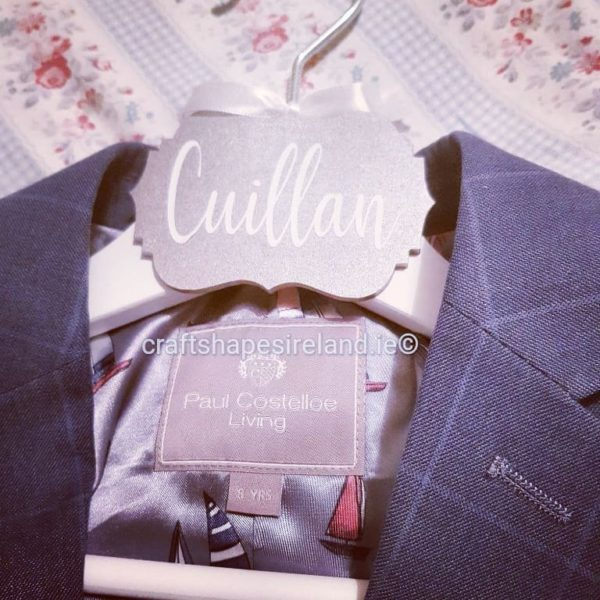 Personalised Hanger Silver Tag