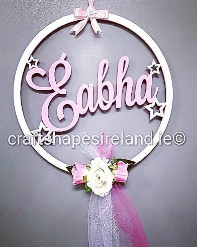 Door/Wall Name Hoop - floral with trail