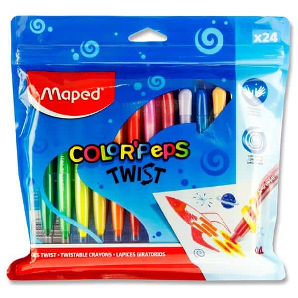 Color'peps Twist Pkt.24 Twistable Crayons