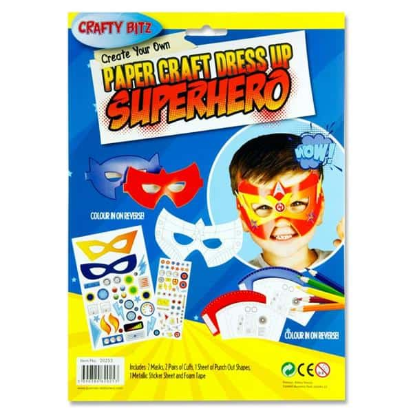 Create Your Own Paper Craft Dress Up - Superhero