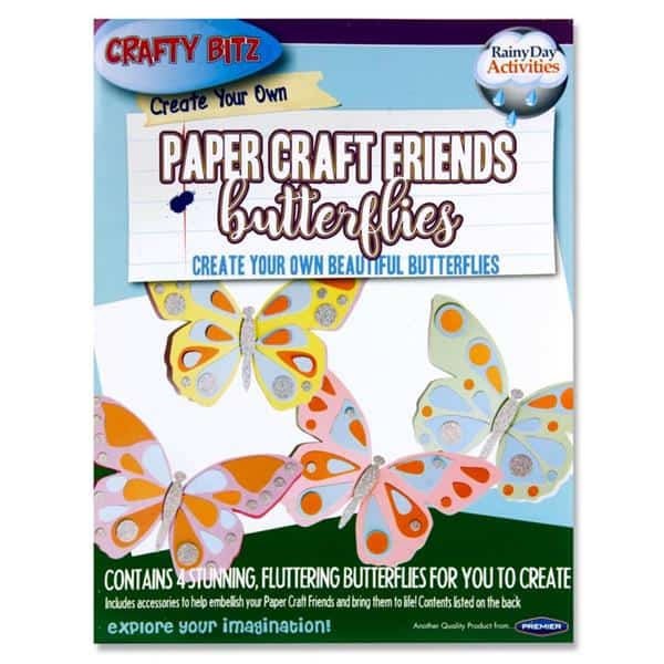 Pkt.4 Create Your Own Paper Craft Friends - Butterflies