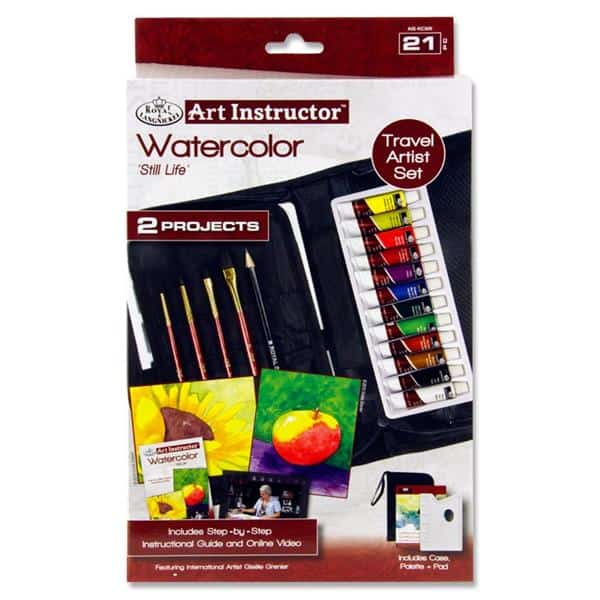 Art Instructor 21pce Travel Set - Watercolour Paint