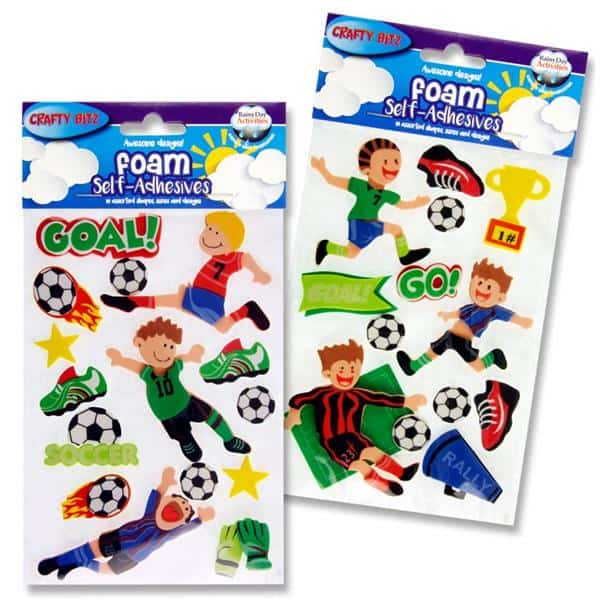 Crafty Bitz 3d Foam Stickers - Soccer Fun 2 Asst.